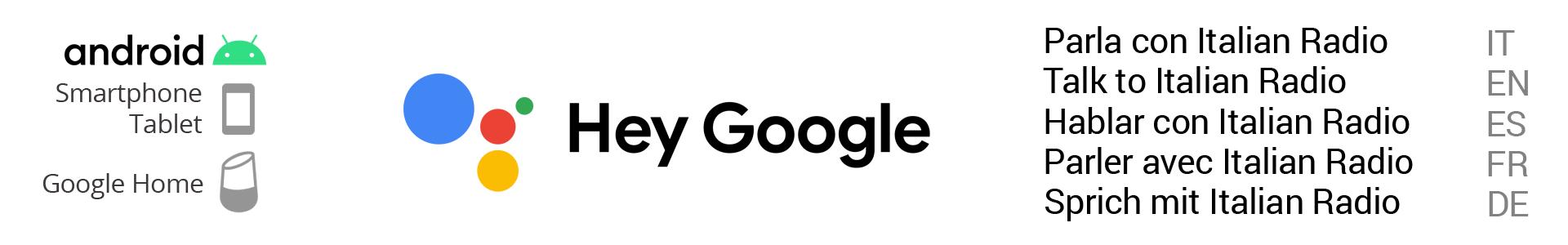 ascolta Italian Radio tramite l'assistente vocale di Google